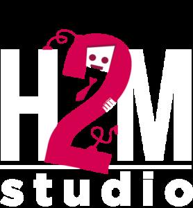 H2M Studio Logo White